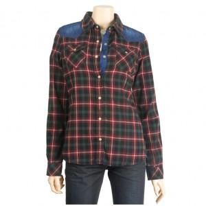 EL3NB052格子衬衫/衬衫 - 女装